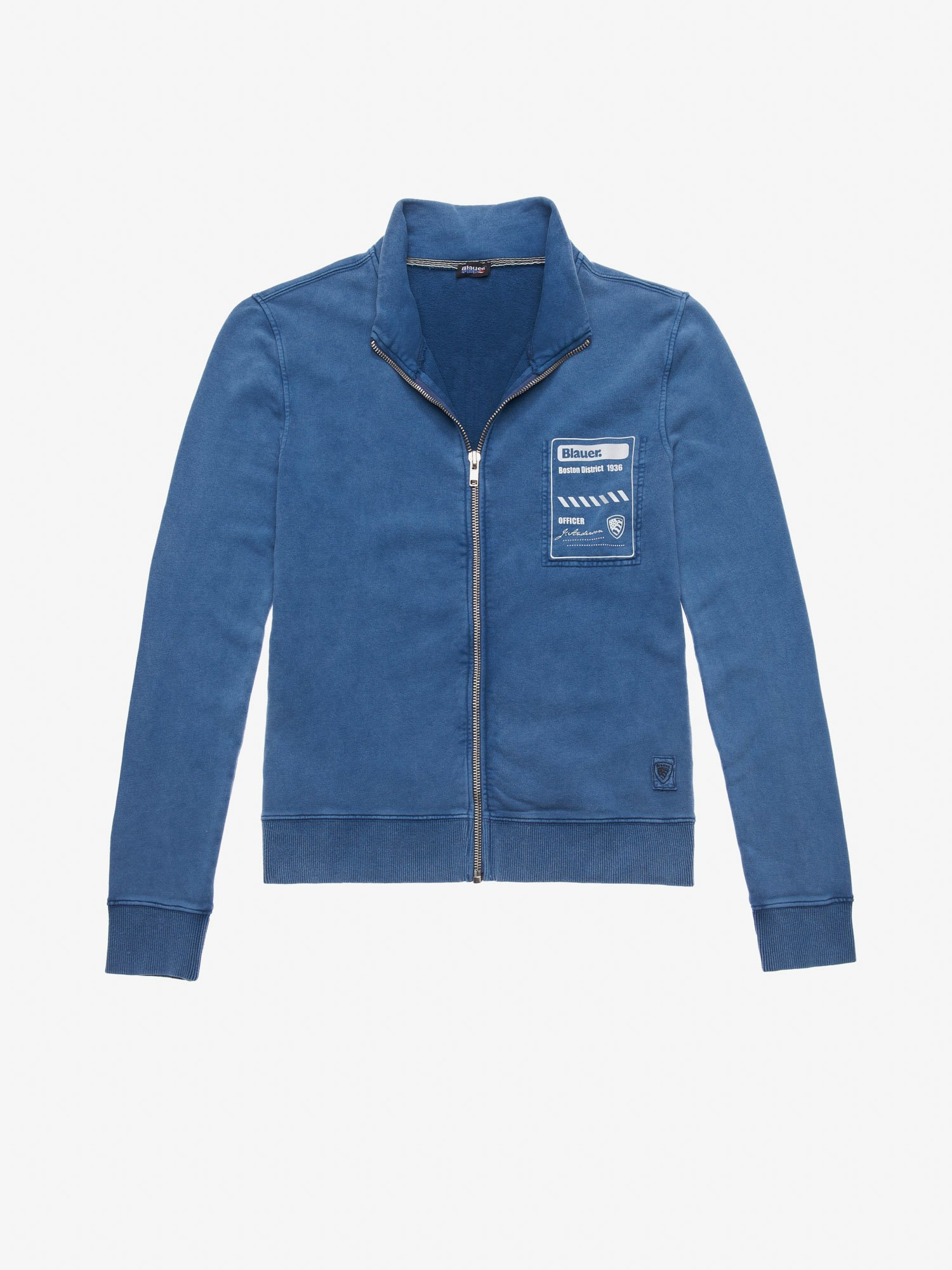 OPEN SWEATSHIRT WITH HIGH VISIBILITY PRINT - Blauer