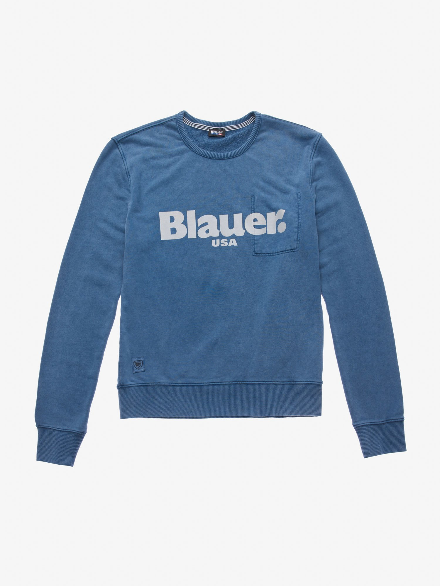 GARMENT DYED CREWNECK SWEATSHIRT - Blauer