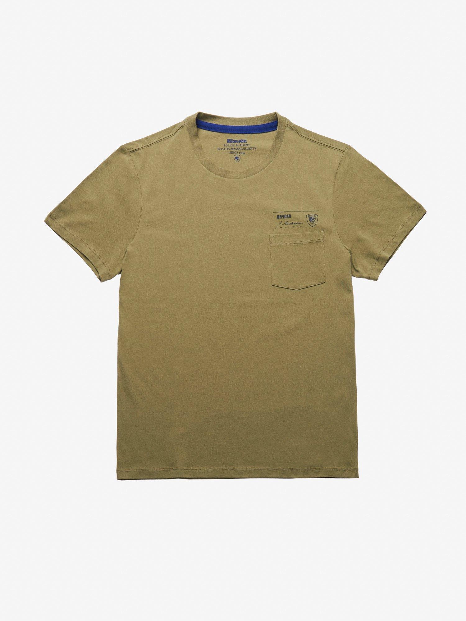 Blauer - MEN'S POCKET T-SHIRT - Dusty Green - Blauer