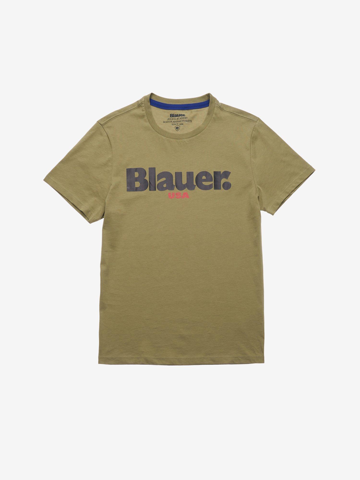 Blauer - MEN'S BLAUER USA T-SHIRT - Dusty Green - Blauer