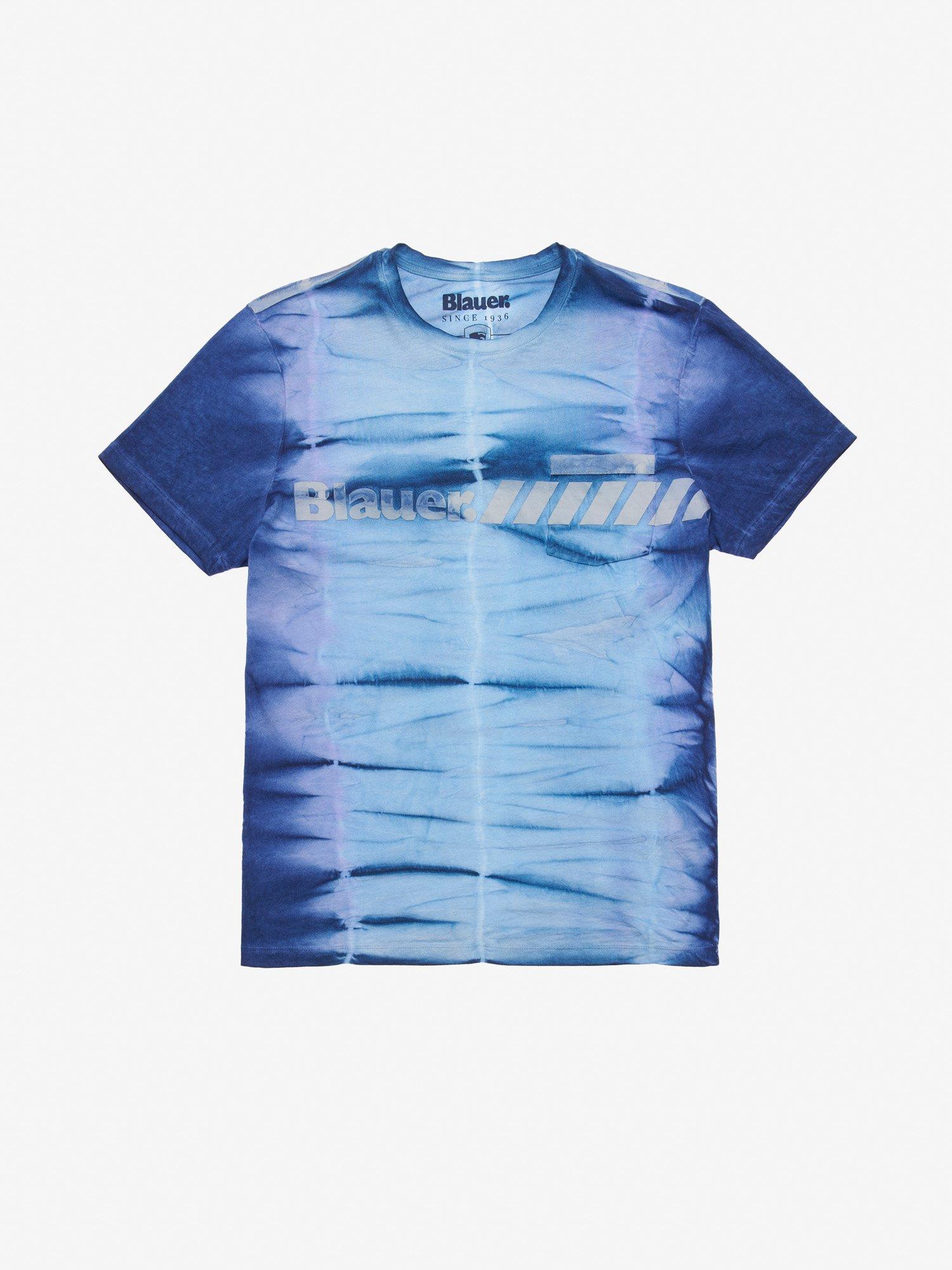 Blauer - MEN'S TIE DYE T-SHIRT - Ultramarine Blue - Blauer