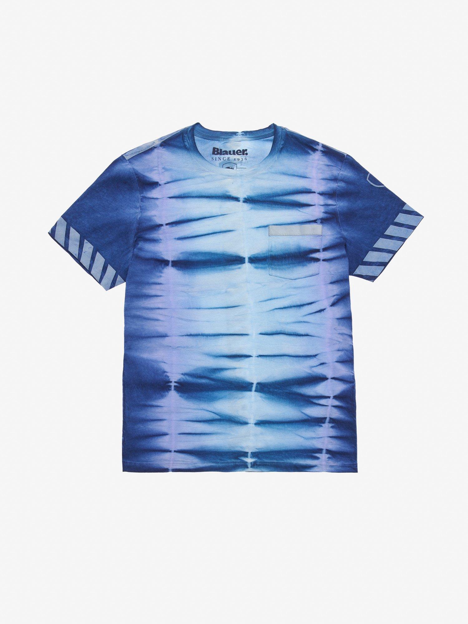 Blauer - MEN'S REFLECTIVE TIE DYE T-SHIRT - Ultramarine Blue - Blauer