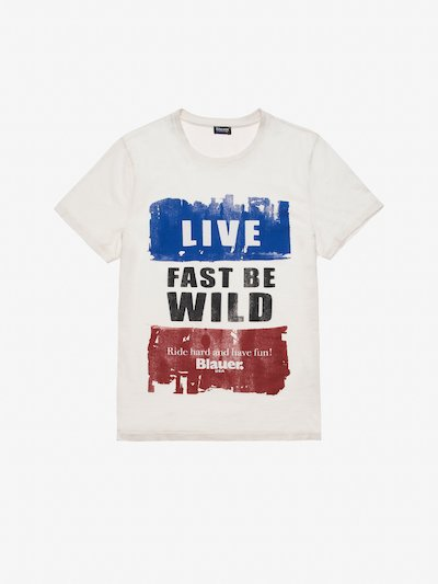 T-SHIRT LIVE FAST BE WILD