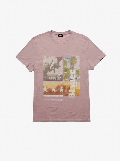 T-SHIRT LOS ANGELES BLAUER