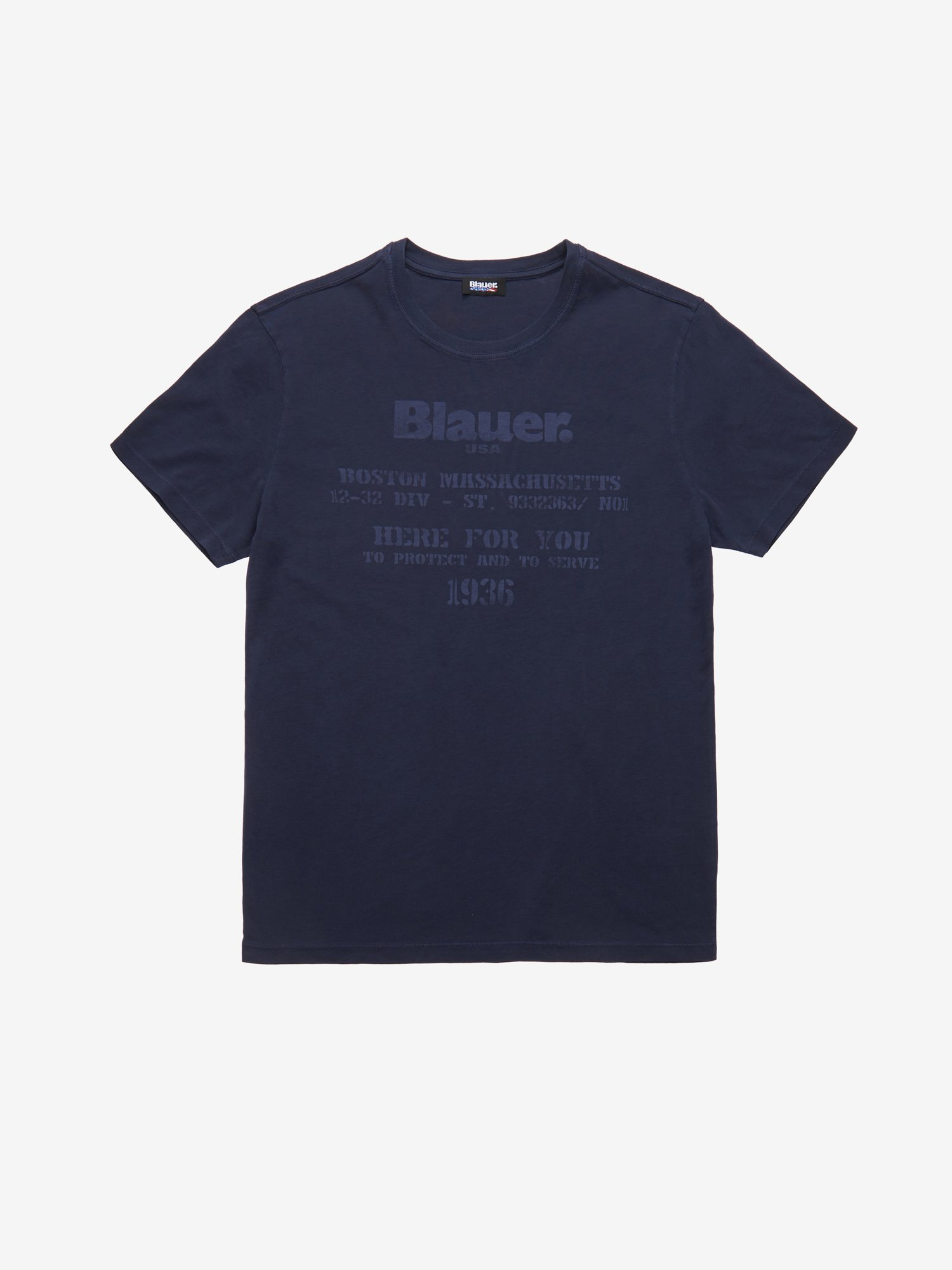 Blauer - PROTECT AND SERVE T-SHIRT - Blue Ink - Blauer
