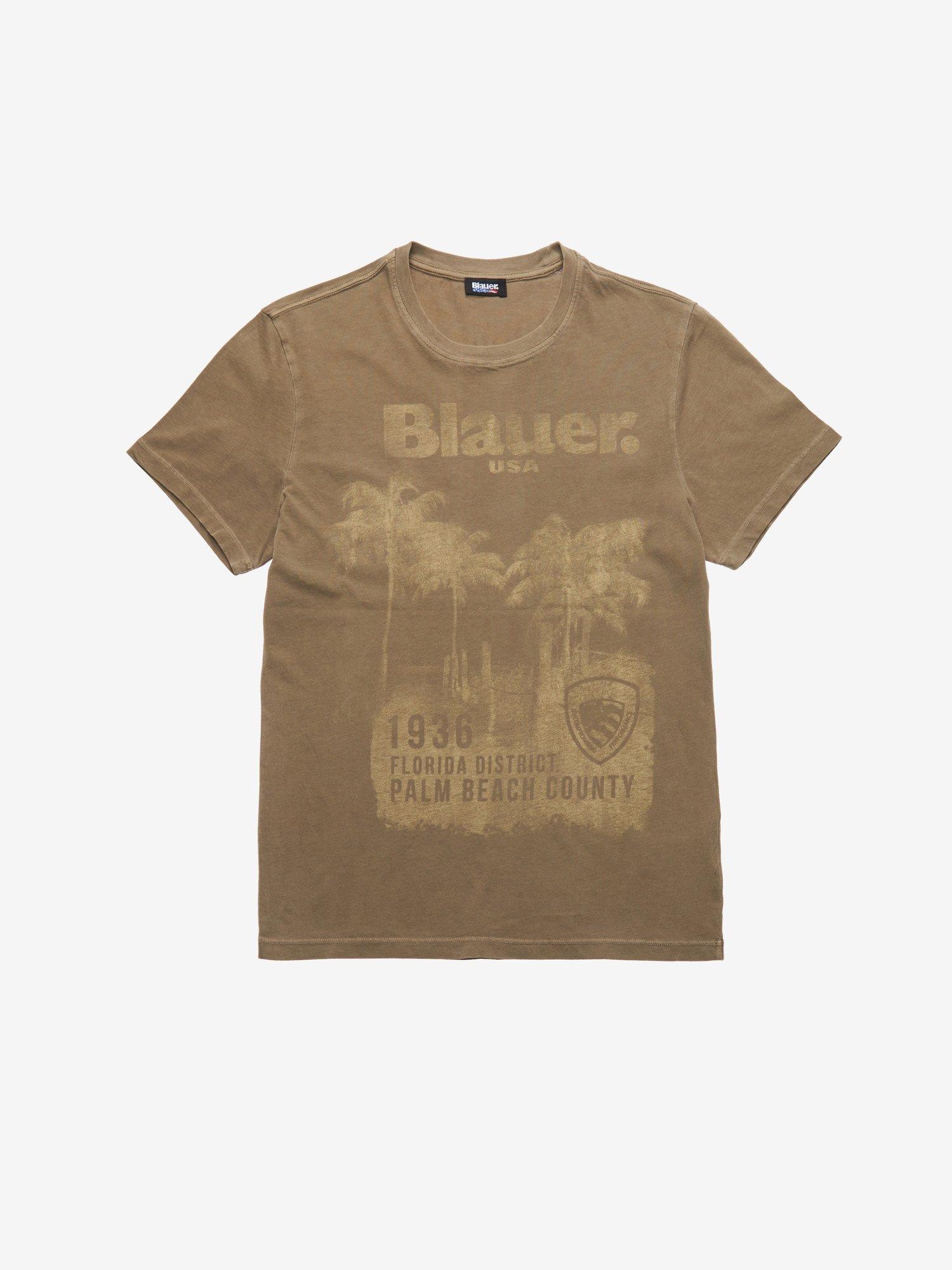 Blauer - PALM BEACH COUNTY T-SHIRT - Dusty Green - Blauer