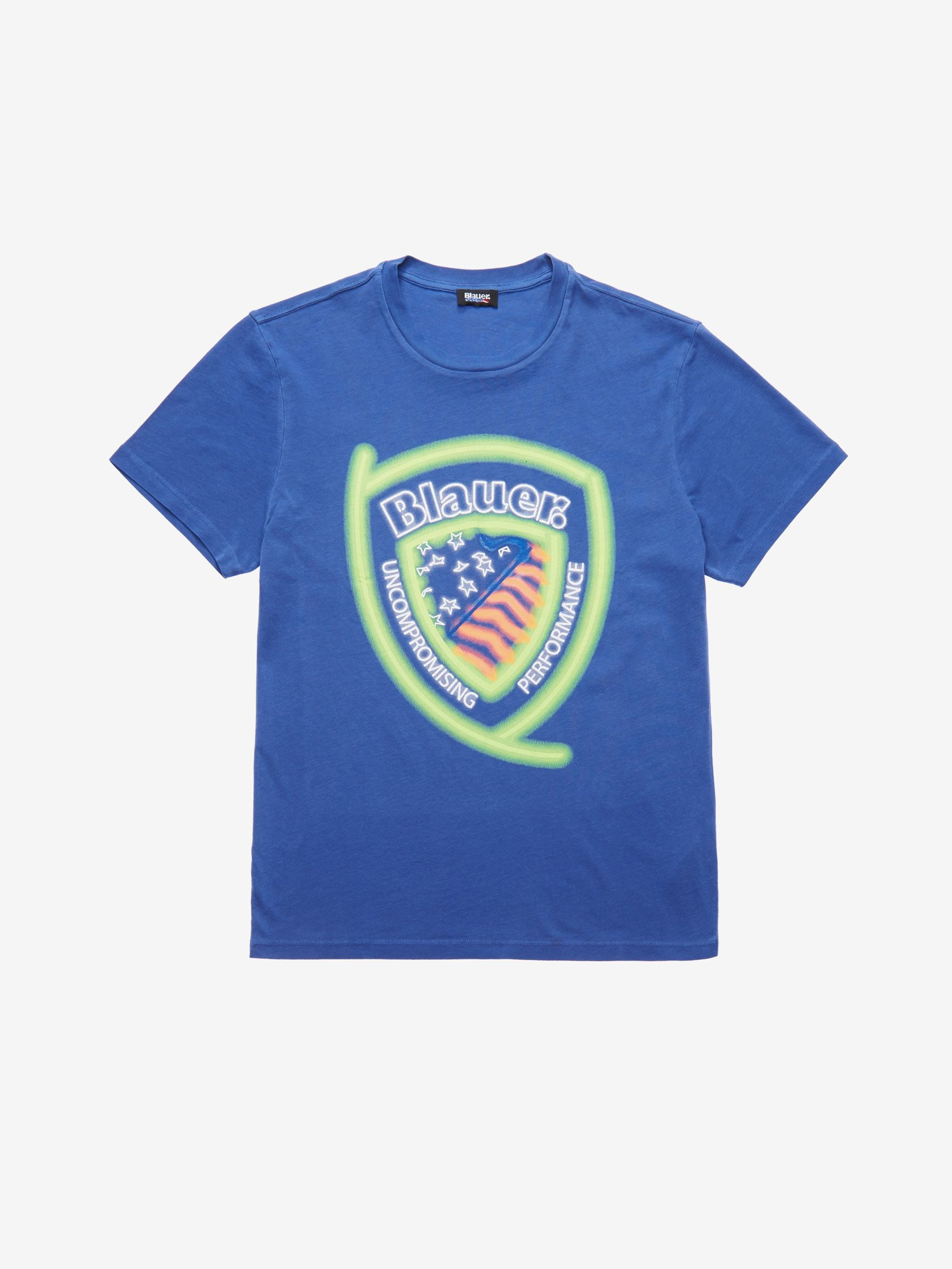 Blauer - FLUORESCENT T-SHIRT - Ultramarine Blue - Blauer