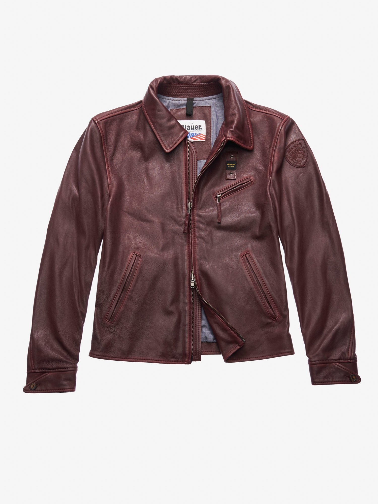 BROWN VINTAGE LEATHER JACKET - Blauer