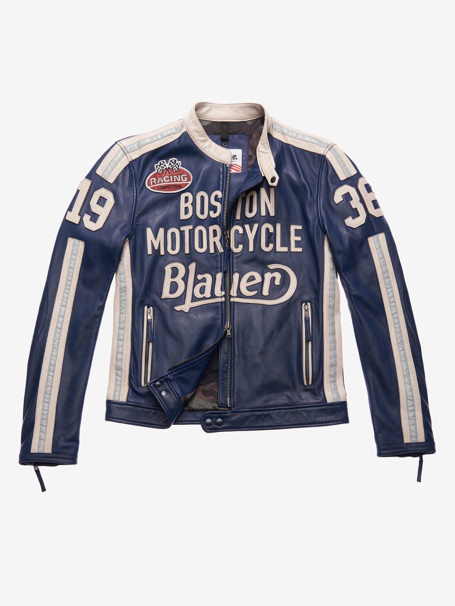 Blauer - BIKER PELLE MOTORCYCLE THOMAS - Blu Limoges - Blauer