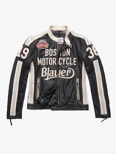 THOMAS LEATHER MOTORCYCLE JACKET