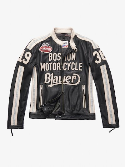 THOMAS LEATHER MOTORCYCLE JACKET
