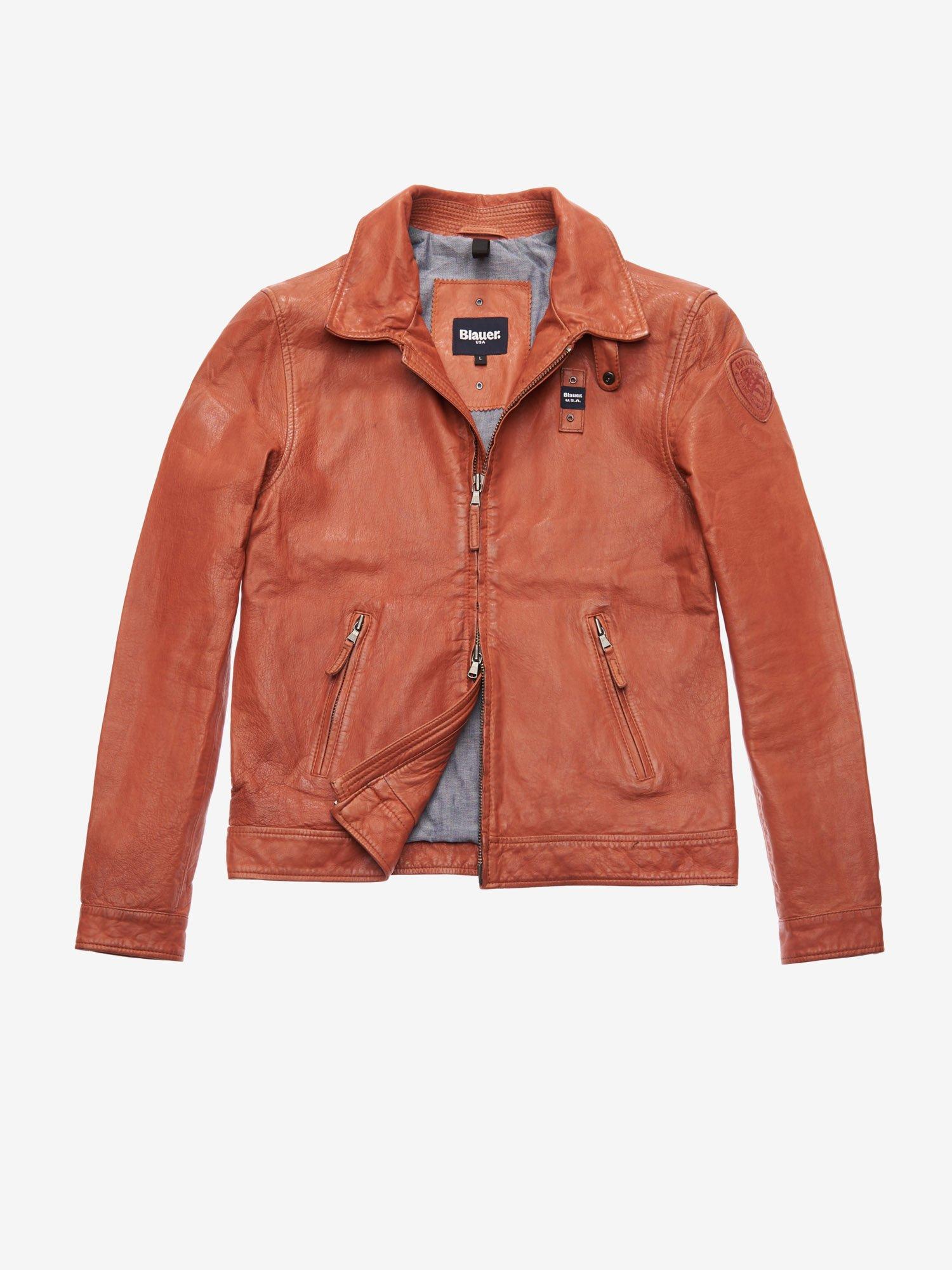 056114f187 Giubbotti e Giacche Pelle Uomo Blauer ® - Shop Online   Blauer USA