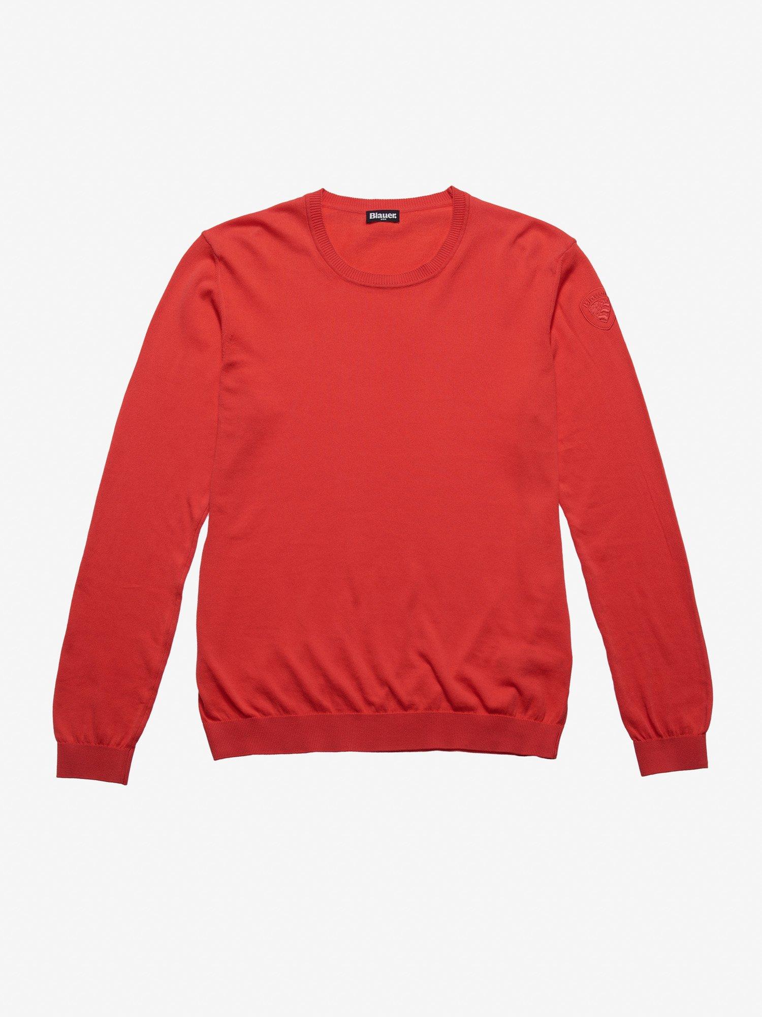 Blauer - BLAUER CREW NECK SWEATER - Red Ginger - Blauer