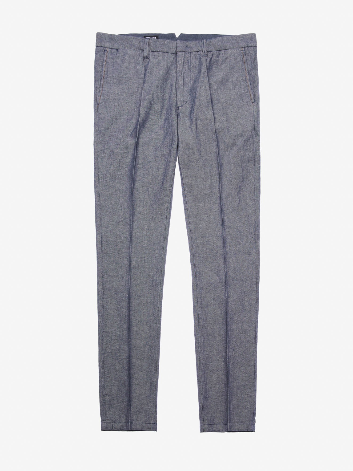 MEN'S STRETCH COTTON LINEN TROUSERS - Blauer
