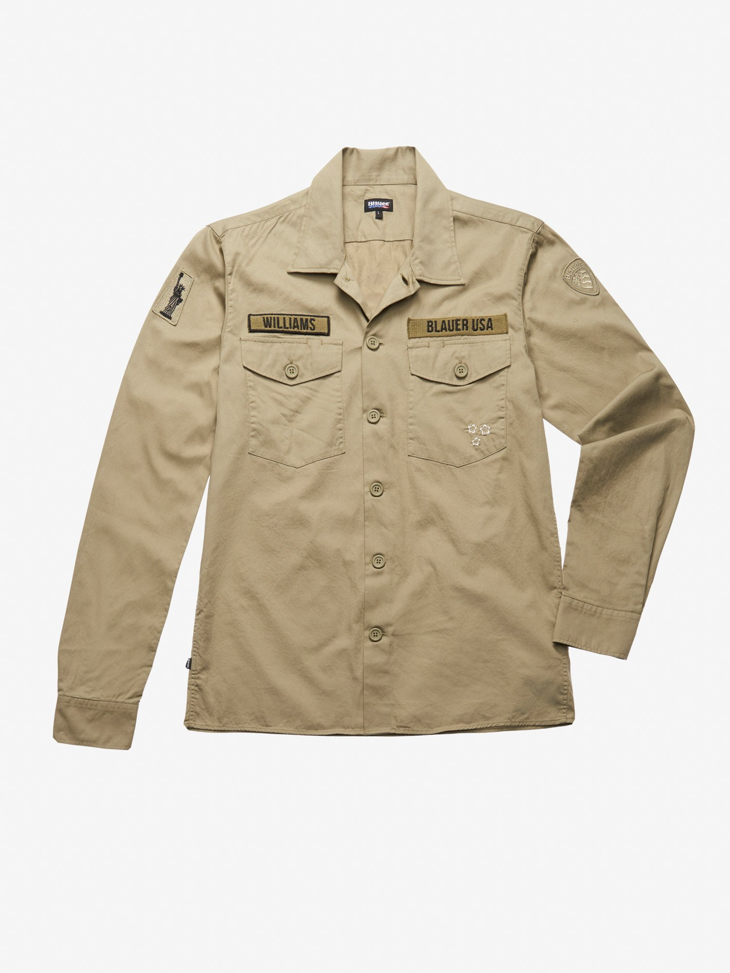 Blauer - CAMICIA MILITARY WILLIAMS - Verde Polverso - Blauer
