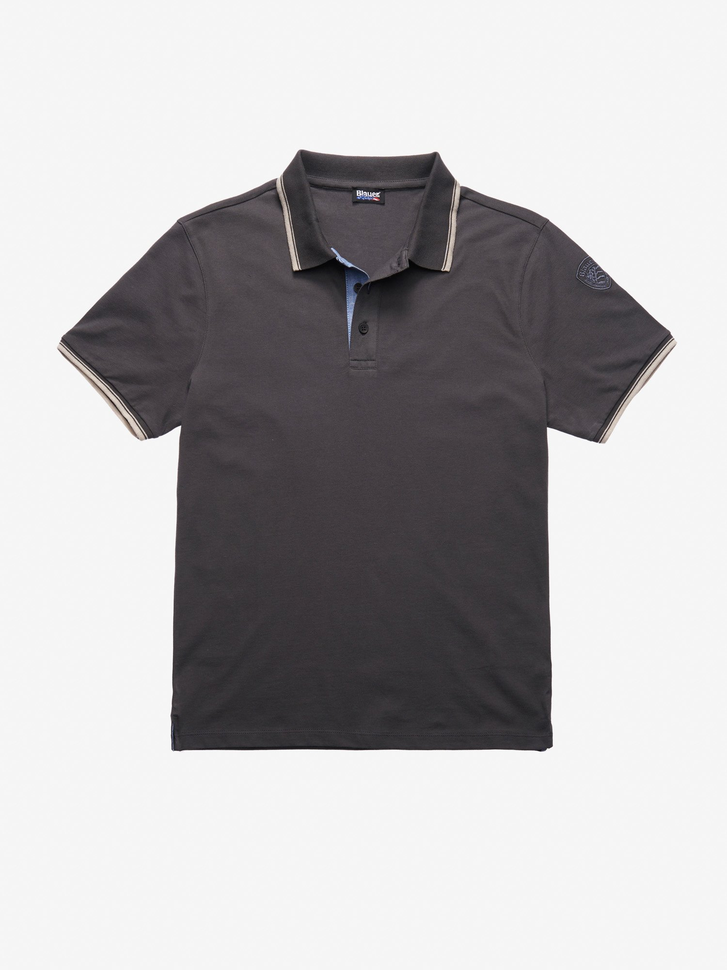 POLO SHIRT WITH POCKET - Blauer