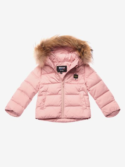 BARRETT BABY DOWN JACKET WITH HOOD AND FUR
