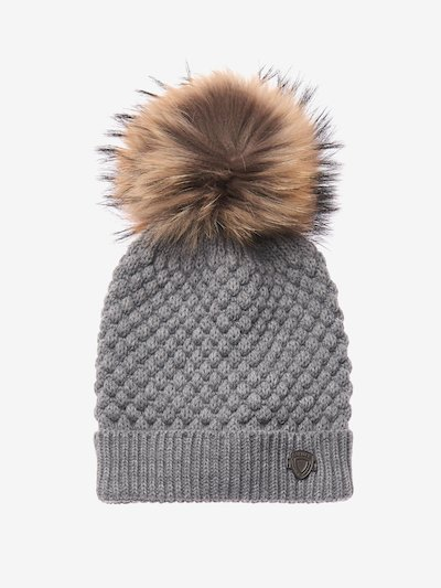 FUR POMPOM KNIT HAT