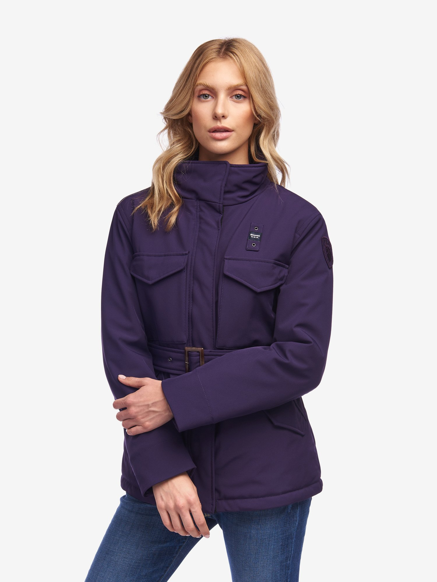 ROSE PADDED JACKET WITH BELT - Blauer