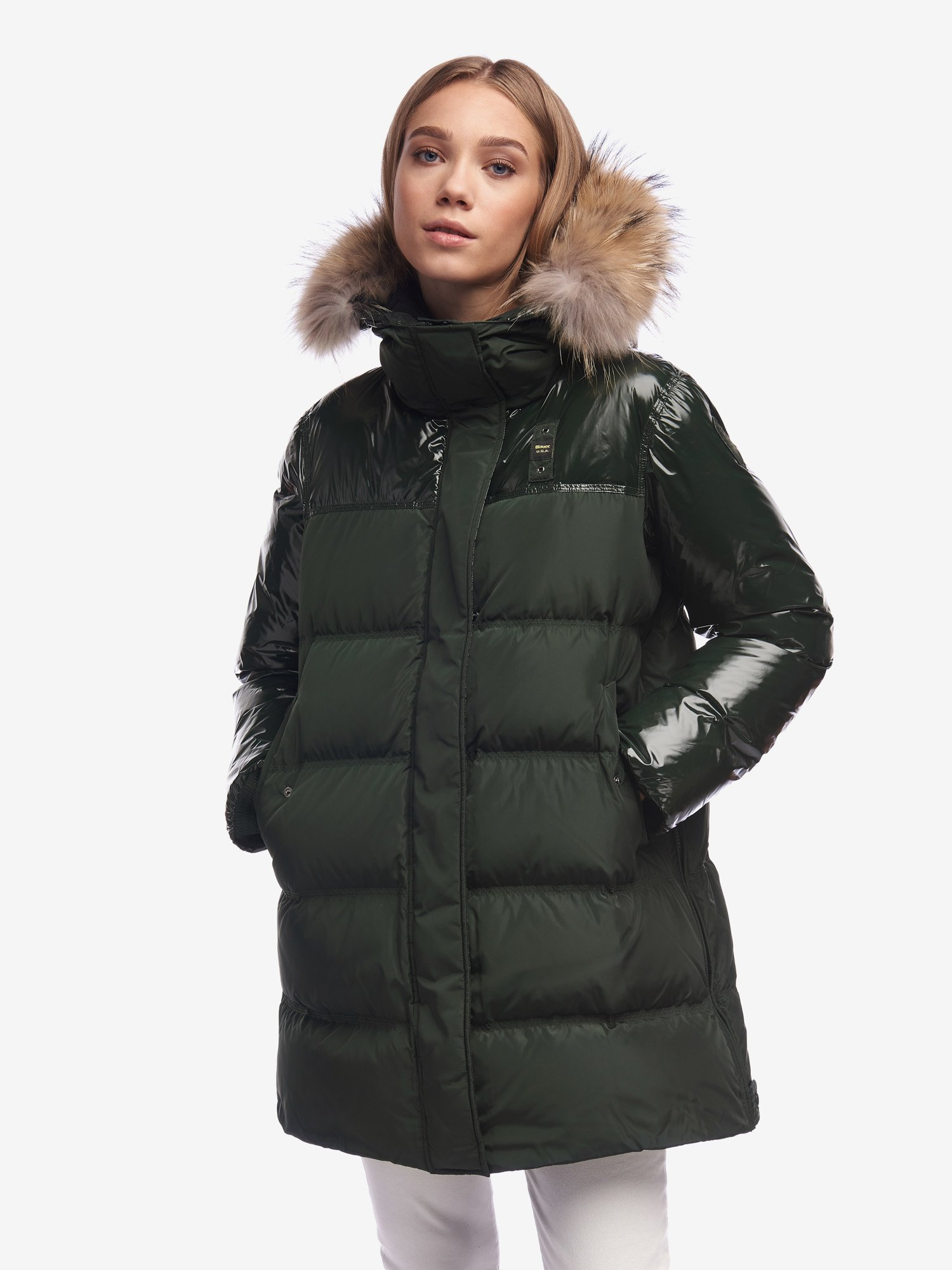 SHAW LONG NYLON DOWN JACKET - Blauer