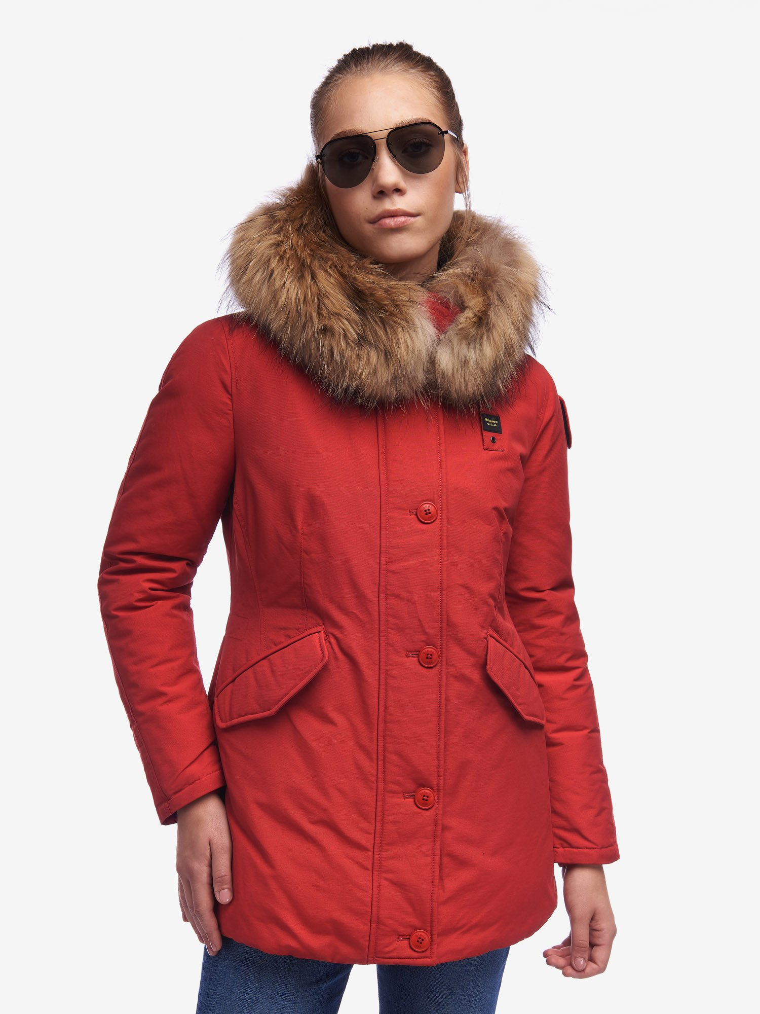 Blauer - RUSSEL PARKA IN LIGHT TASLAN - Berry Myrica - Blauer