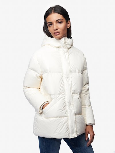GRAHAM LONG DOWN JACKET WITH HOOD