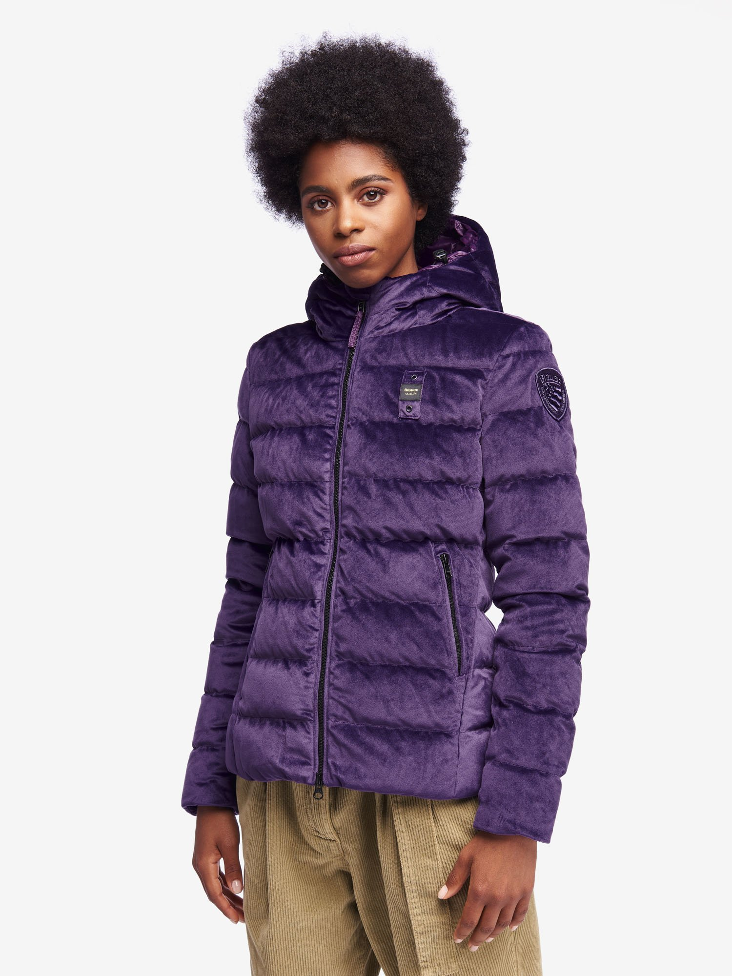 Blauer - PEARCE VELVETY DOWN JACKET - Purple Panse - Blauer