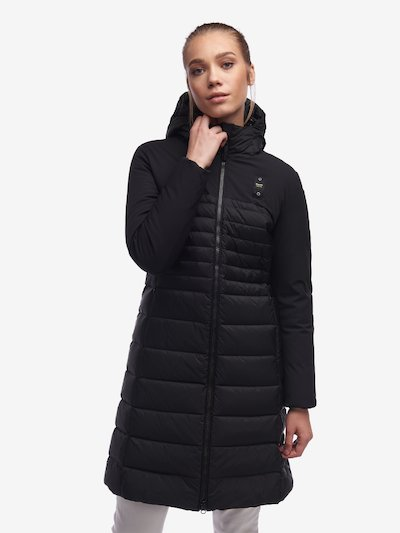 POOLE LONG NYLON NEOPRENE DOWN JACKET