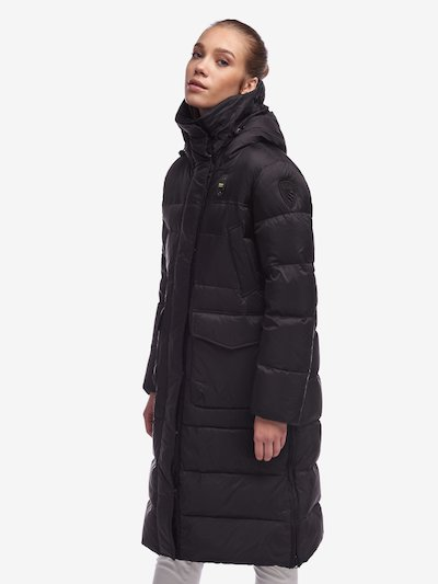 LOWE LONG DOWN JACKET WITH SLITS AND WITHOUT FUR
