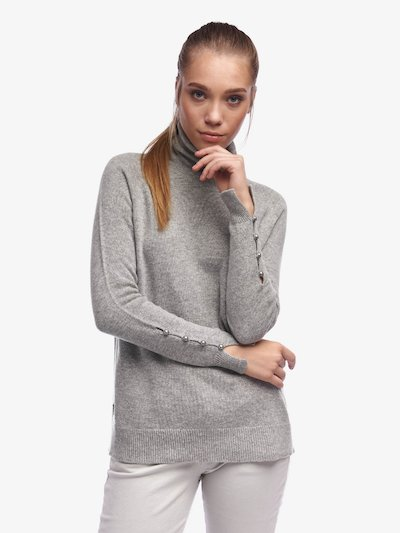 PULL LONG COL MONTANT POUR FEMME