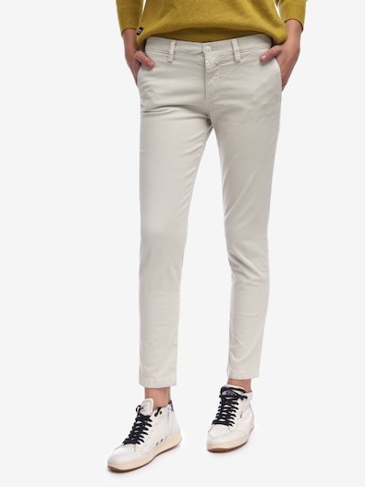 PANTALON SATIN STRETCH DE COTON