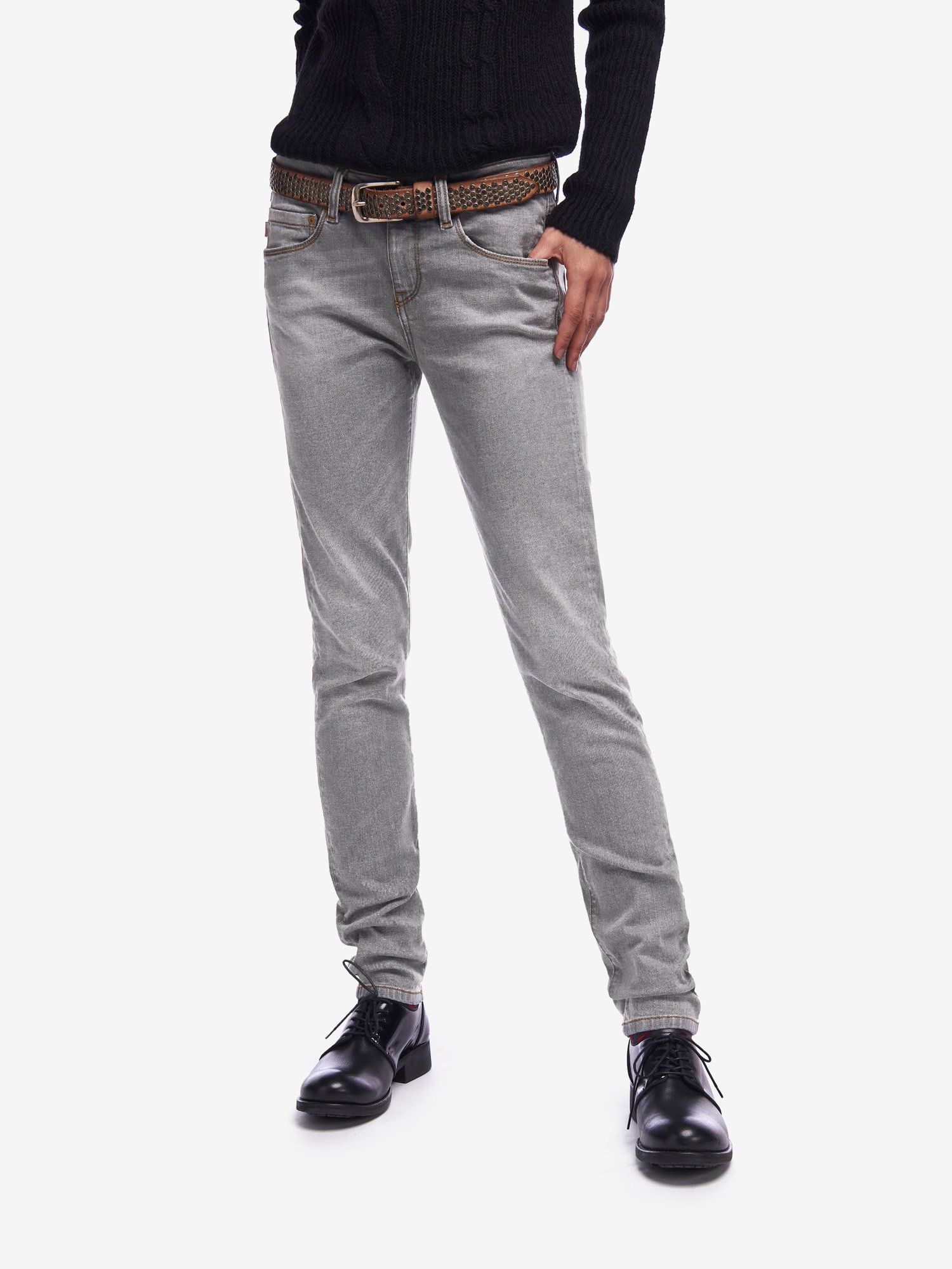 OLD USED GREY JEANS - Blauer