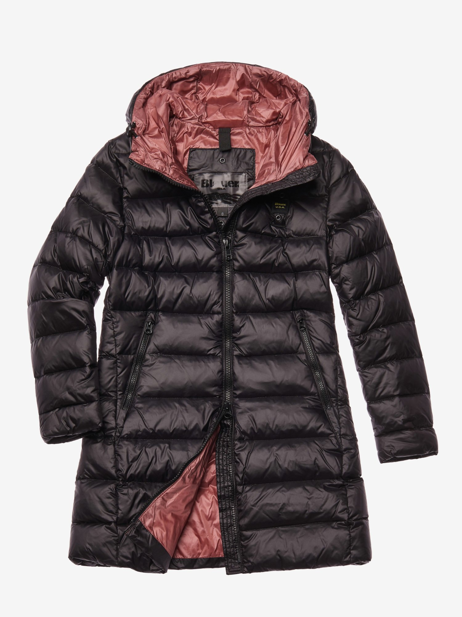 BAXTER LONG DOWN JACKET WITH HOOD - Blauer