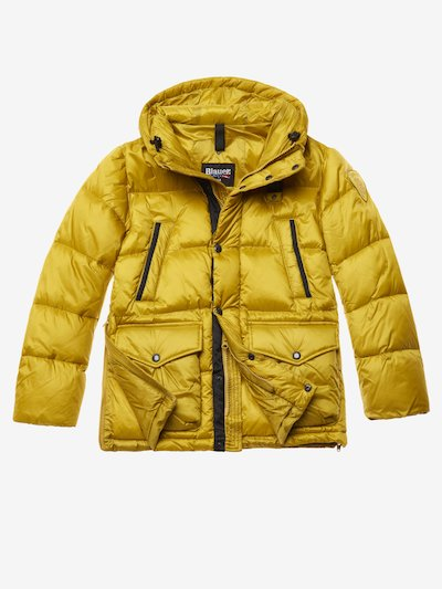 HUSSAIN LONG NYLON DOWN JACKET