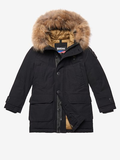 ELLIOTT  PARKA WITH HOOD AND FUR TRIM
