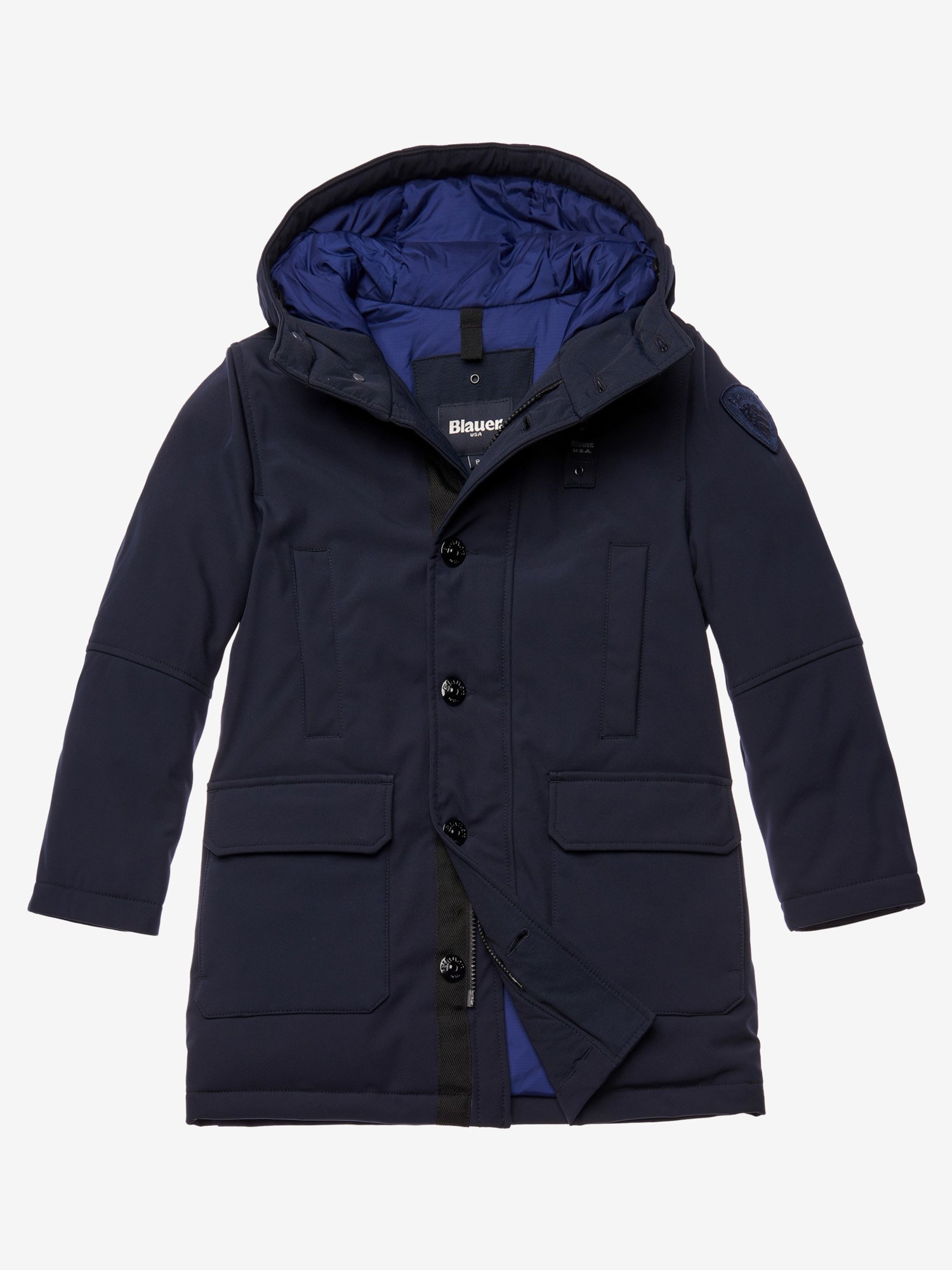 Blauer - BURKE LONG DOWN PARKA - blue - Blauer