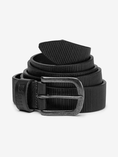 LEATHER BELT WITH EMBOSSED LOGO