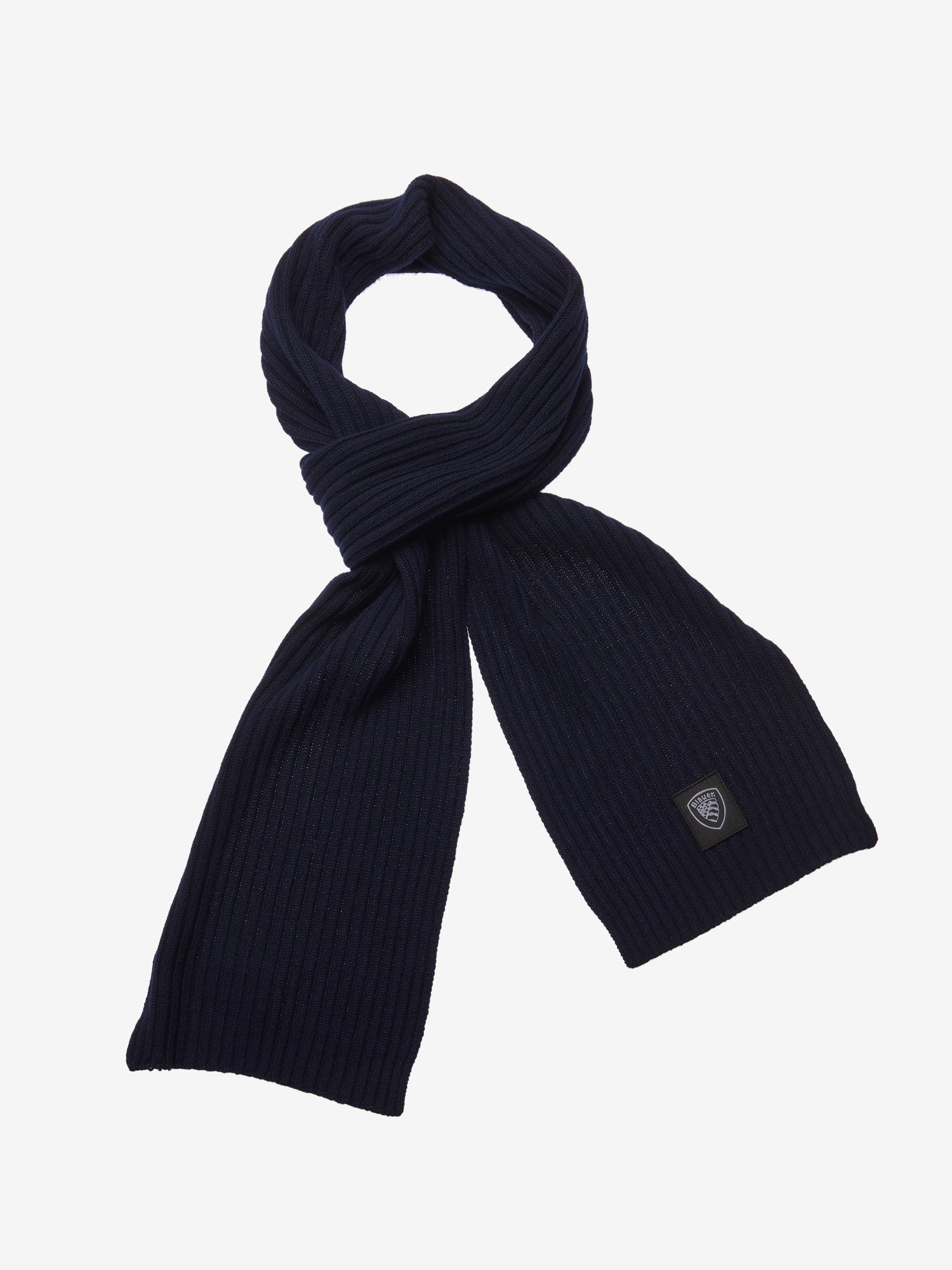 RIBBED SCARF - Blauer