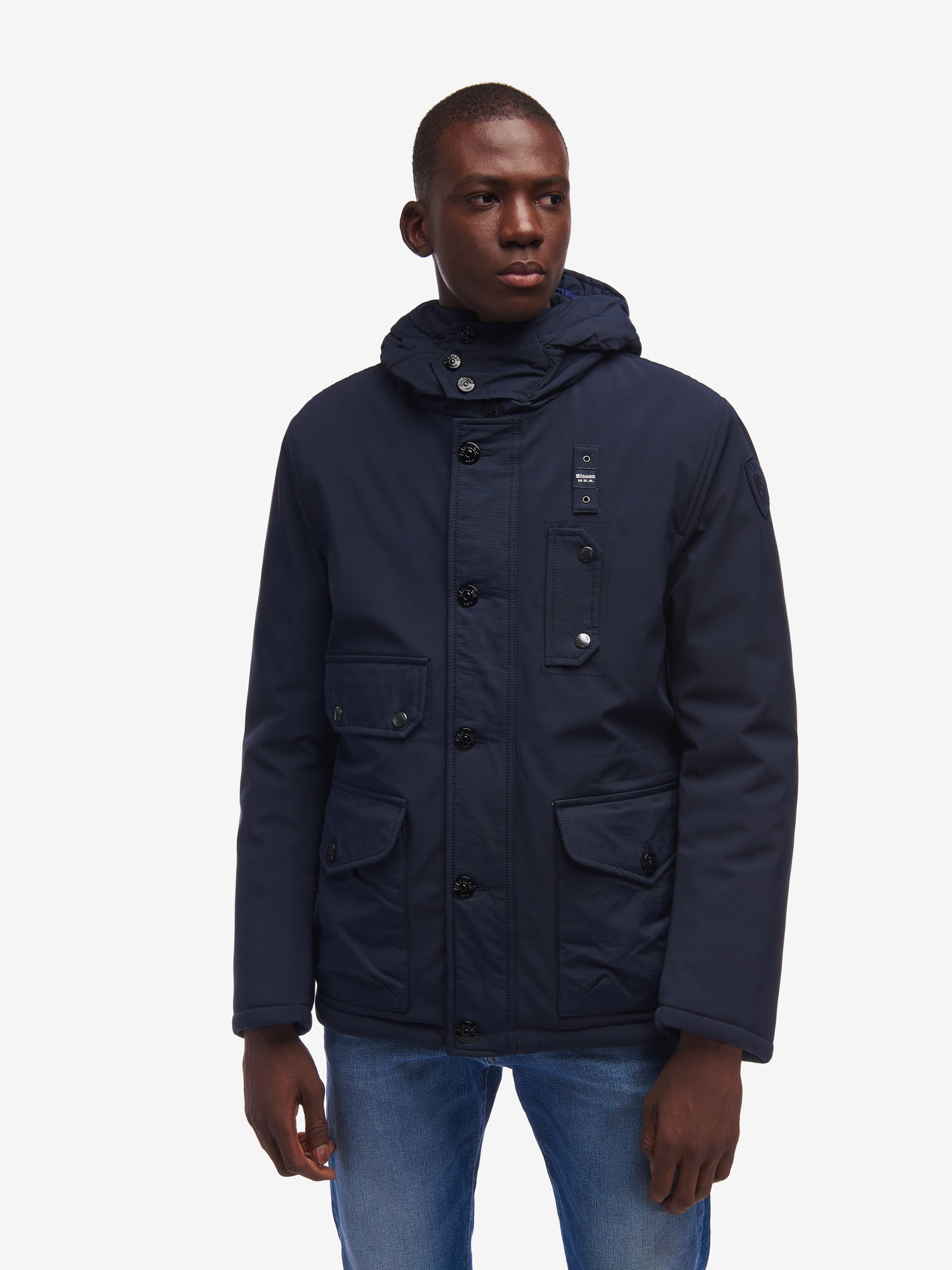 Blauer - FOX PADDED COTTON TOUCH JACKET - blue - Blauer