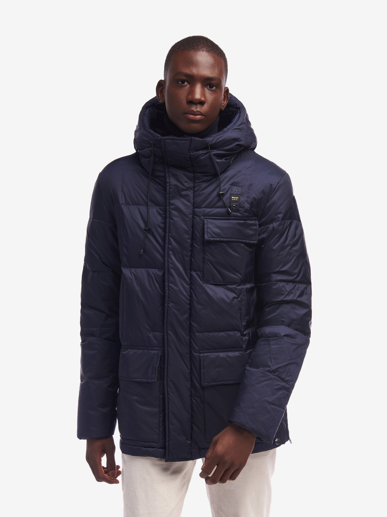 RICHARDS LONG RECYCLED DOWN JACKET - Blauer