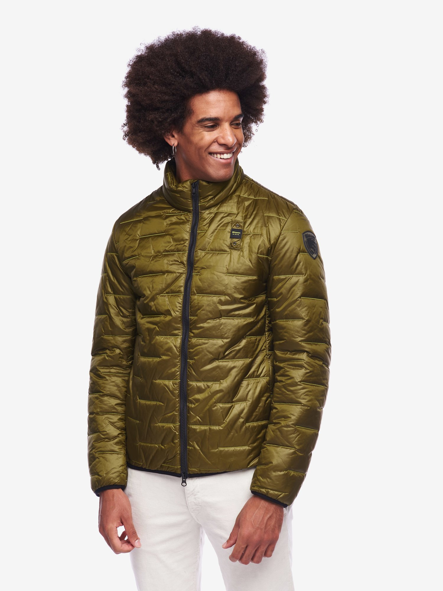 Blauer - HOLMES ULTRA LIGHT ECO JACKET - Green Snake - Blauer