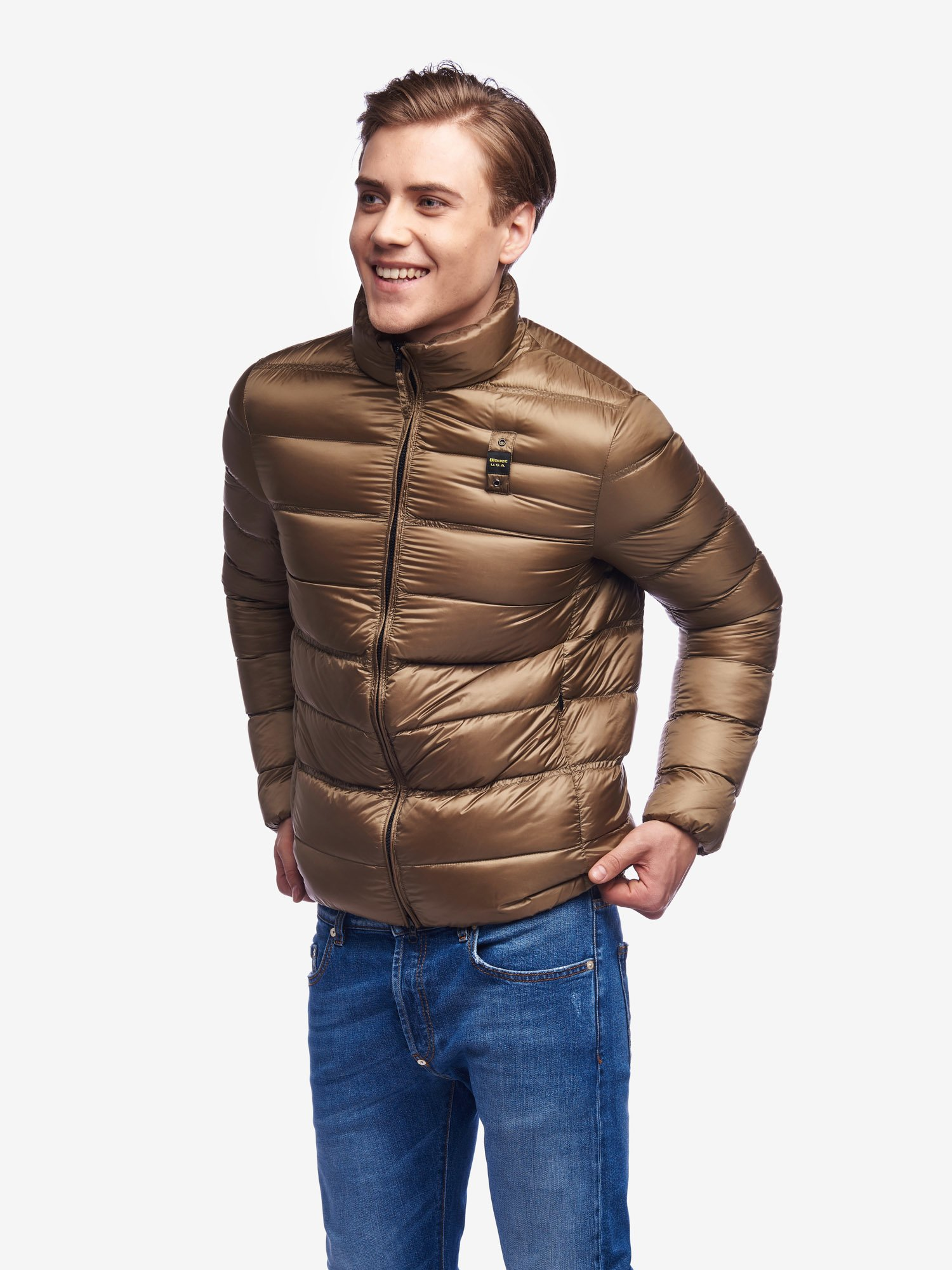 Blauer - HARVEY SOLID COLOUR DOWN JACKET - Otter - Blauer