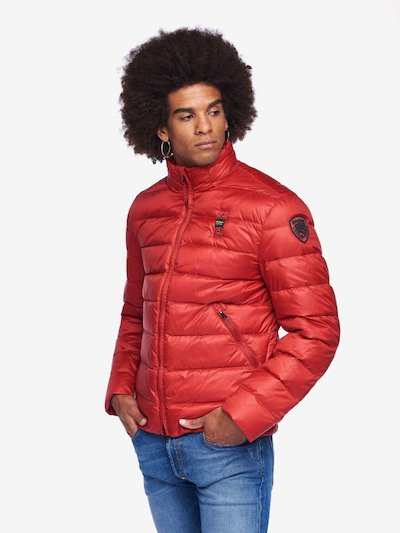 BERRY NYLON DOWN JACKET
