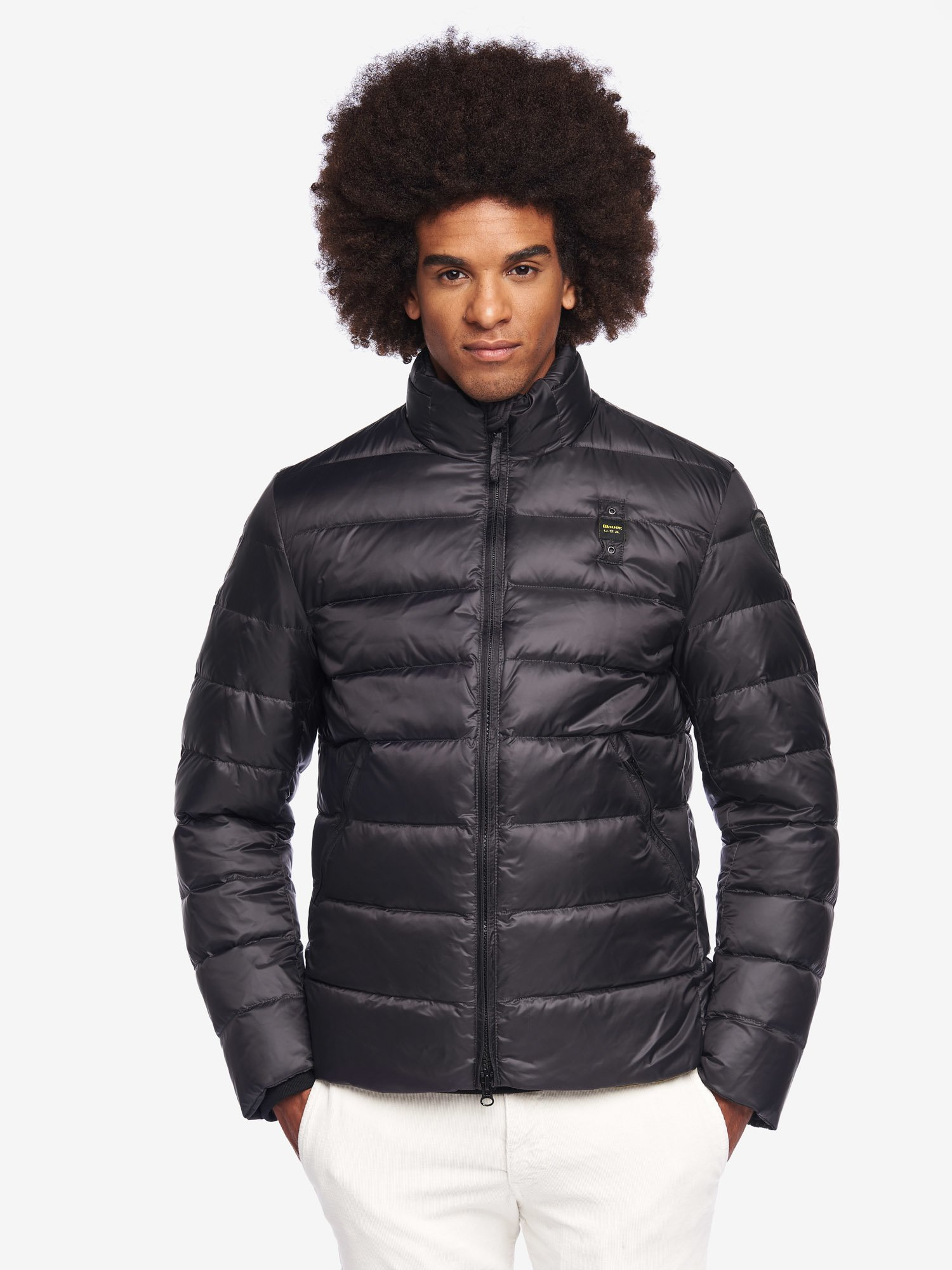 Blauer - BERRY NYLON DOWN JACKET - Black Ins. Green Snake - Blauer
