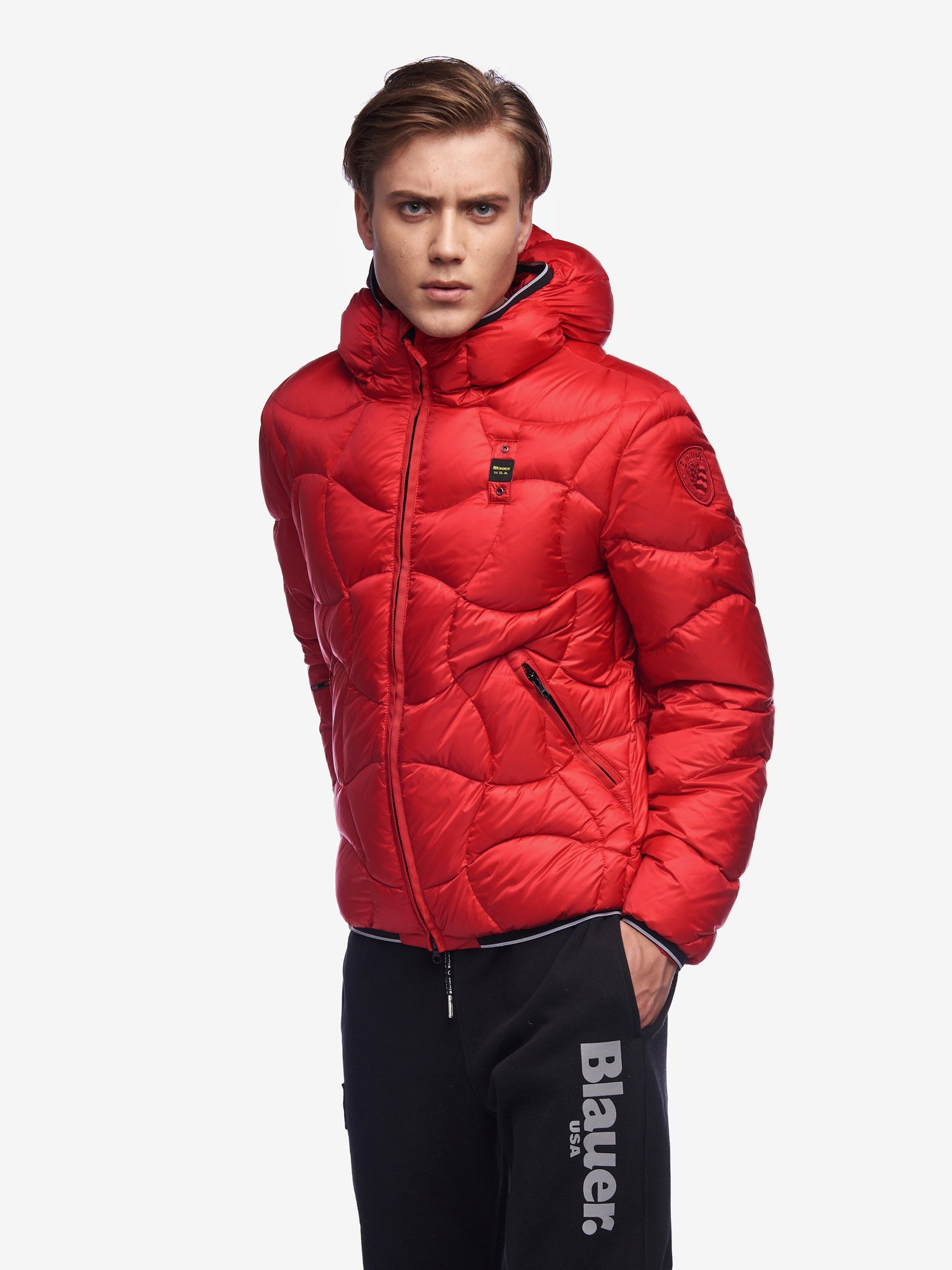 Blauer - PEARSON DOWN JACKET WITH HOOD - Red Pepper - Blauer