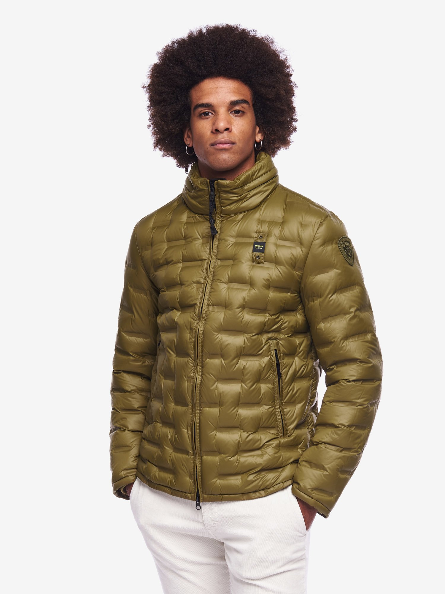 Blauer - LANE THERMAL QUILTED DOWN JACKET - Green Snake - Blauer