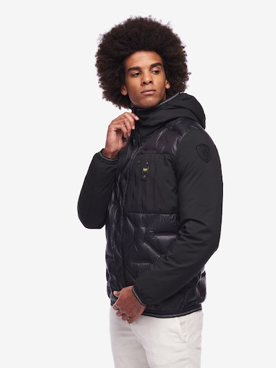 CARR NYLON AND NEOPRENE DOWN JACKET