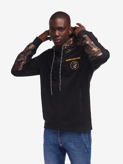 MILITARY HOODED SWEATSHIRT