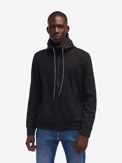 COATED ZIP HOODED SWEATSHIRT