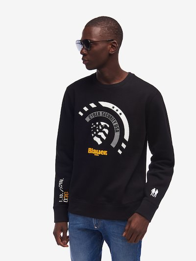 CREW NECK SWEATSHIRT WITH PATCH